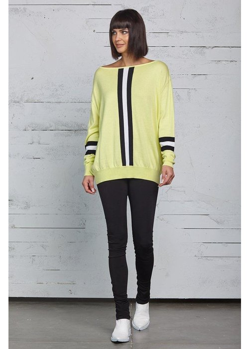 PLANET by Lauren G Planet Racer Stripe Sweater