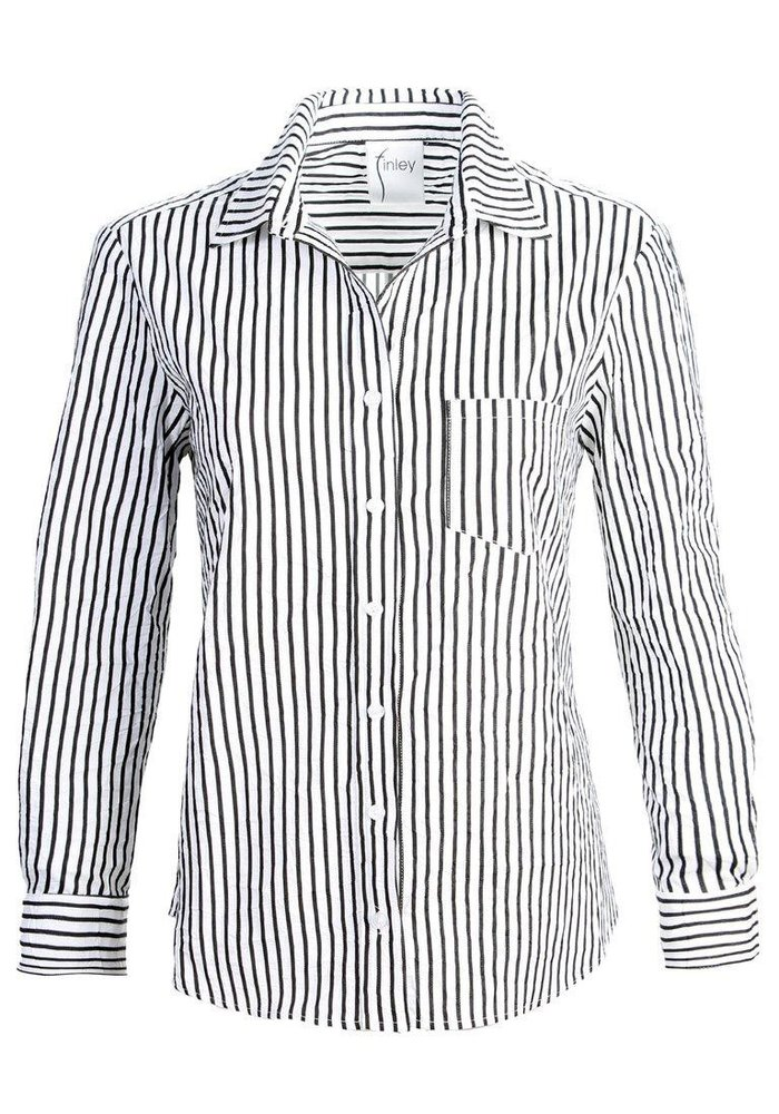 Finley Alex Shirt in Textured Stripe Fabric