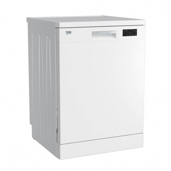 Factory Second Beko Dishwashers 60cm 14 Place Setting 4 Star WELS, 3.5 Star Energy DFN16420W