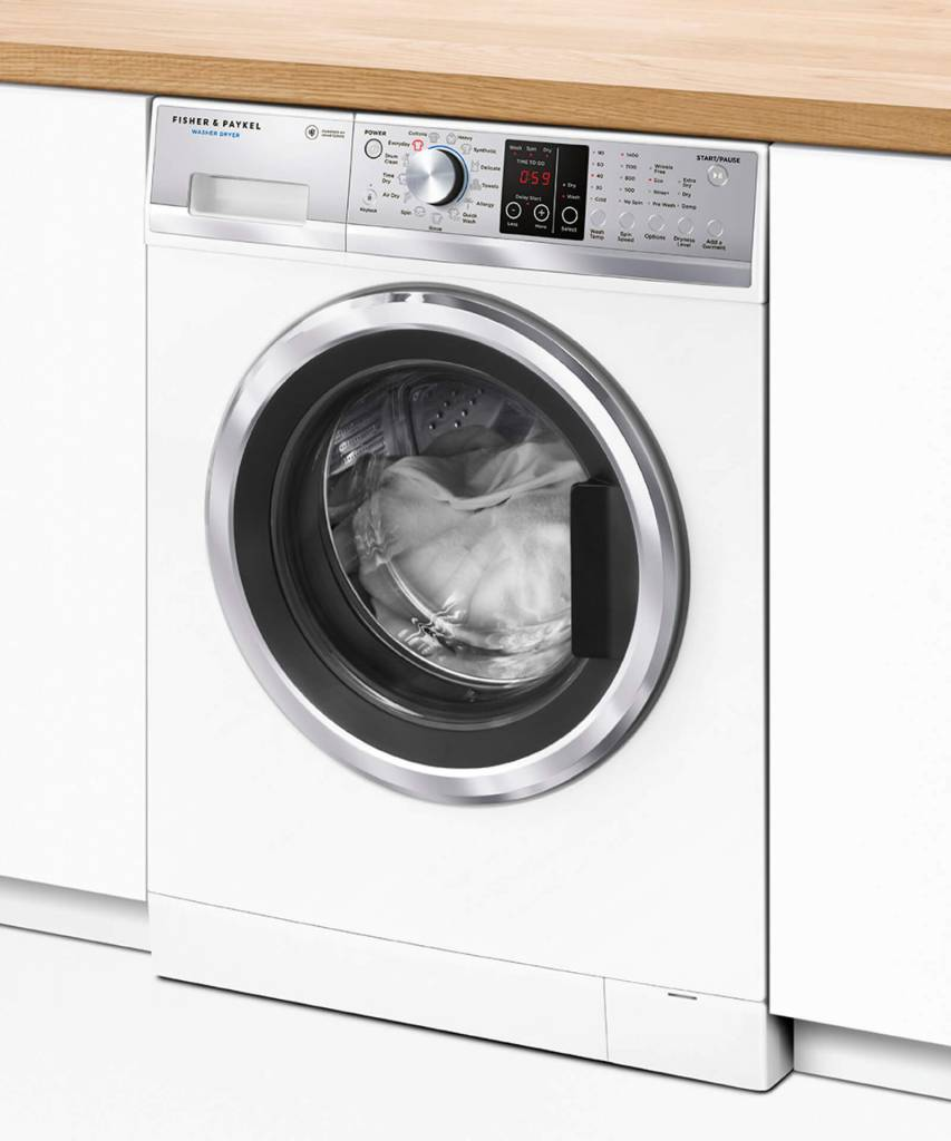 Fisher & Paykel Washer & Dryer Combo 8.5Kg Washe/5Kg Dryer 1400Rpm Spin 13 Wash/9 Dry Cycles (Factory Second)