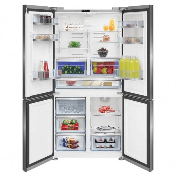 Beko French Door Fridges 630 Litre, 4 Door, Internal Water & Ice BFR630DX
