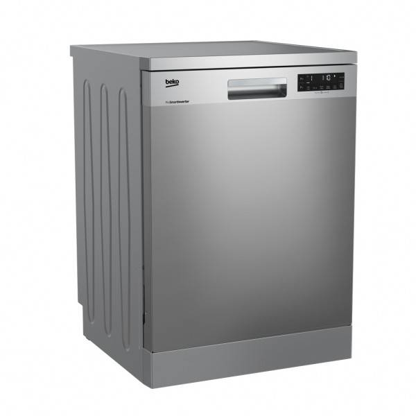Factory Second Beko Dishwashers 60cm 14 Place Setting Stainless, 5.5 Star WELS, 3 Star Energy DFN28430X