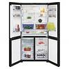 Beko French Door Fridges 630 Litre Black Glass Doors BFR630DB