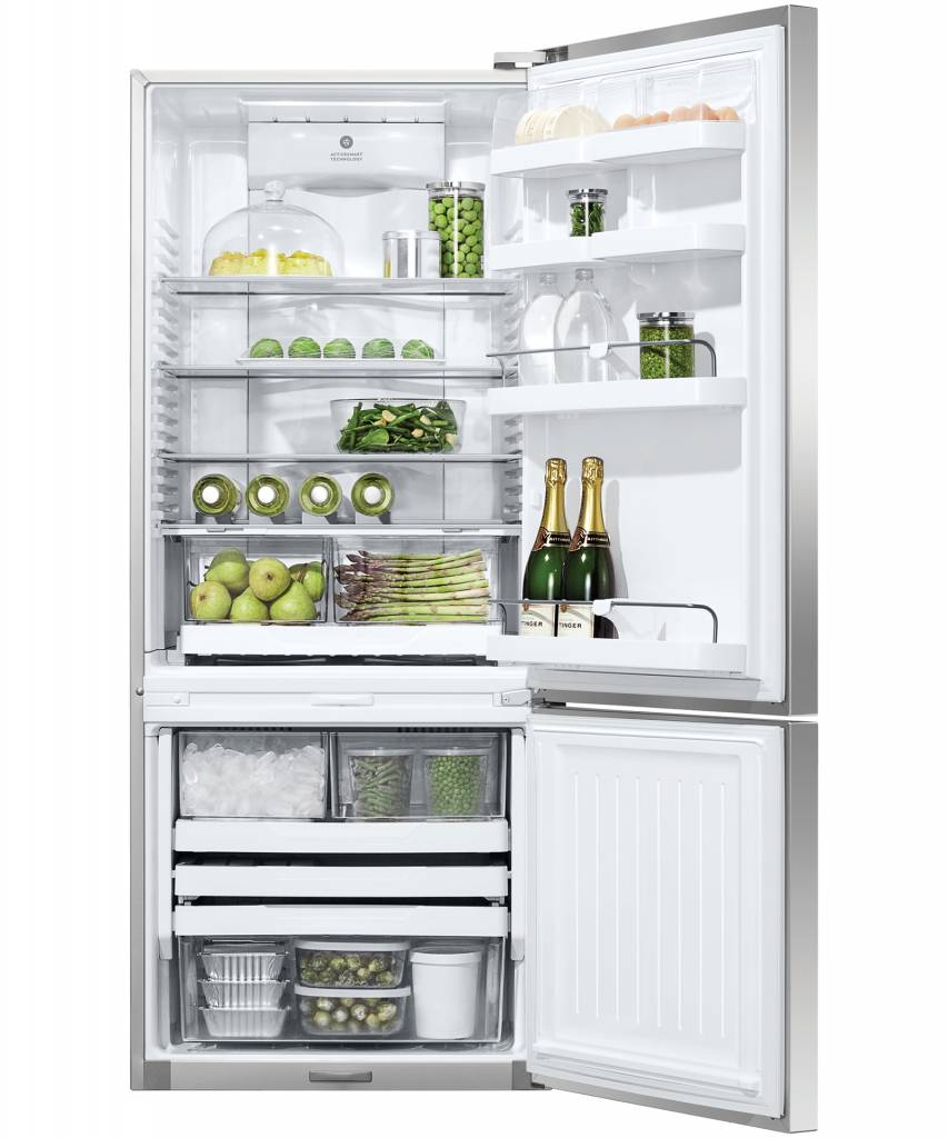 Fisher & Paykel Bottom Mount Fridge Activesmart  Bottom Freezer with Ice 519LRight Hinge  (Factory Second)