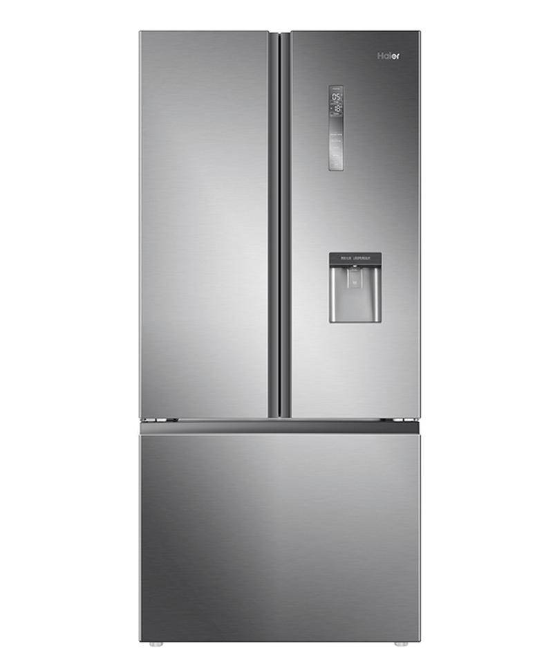Haier French Door Fridge 520L French Door Satin Silver4 Star Water Dispenser Recess (Factory Second)