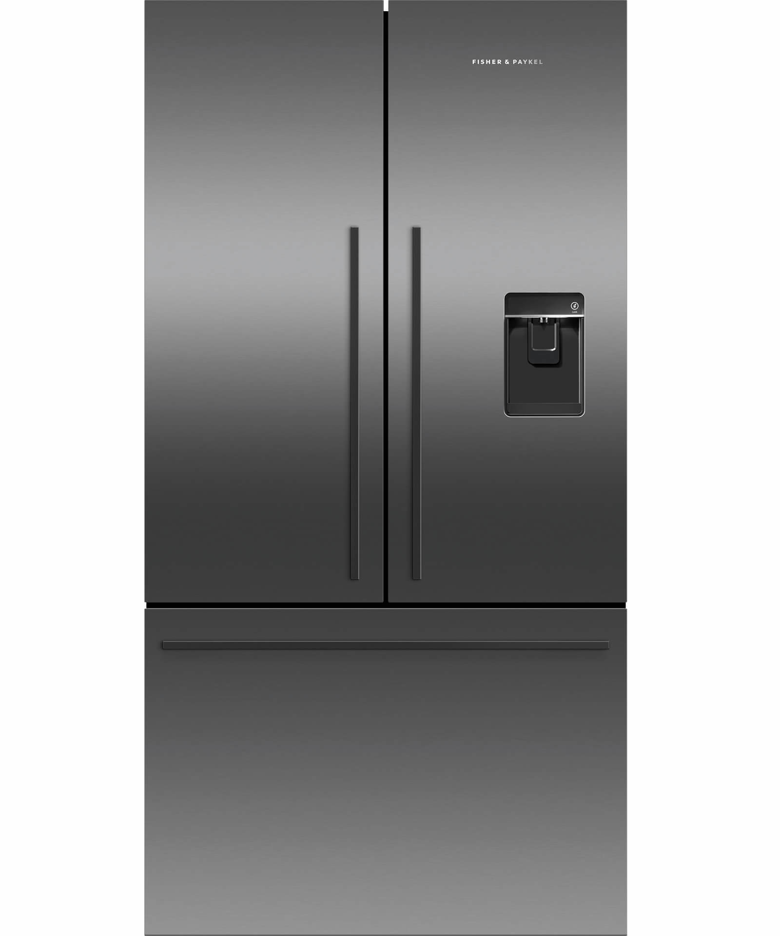Factory Second Fisher and Paykel French Door Fridges 614lt French Door Refrigerator, black steel Finish RF610ADUB5FSB
