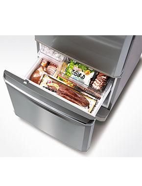 Mitsubishi 325 Ltr s/steel bottom mount fridge mrbf325eksta
