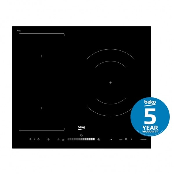 Beko Cooktop Induction, 600mm, 3 zones with touch slider HII63500FHT1