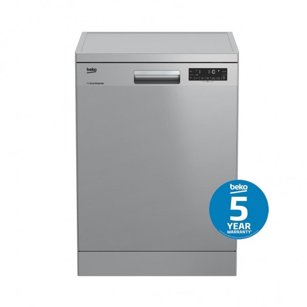 Beko Dishwashers 60cm 14 Place Setting Stainless 4.5 Star DFN38450W