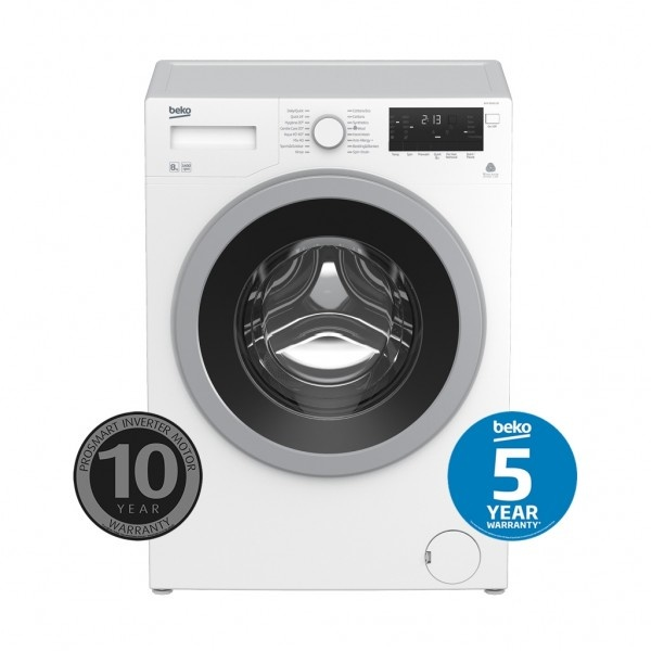 Beko Front Load Washers 8kg, 1400 RPM, 4.5 Star WELS, 4 Star Energy WMY8046LB2
