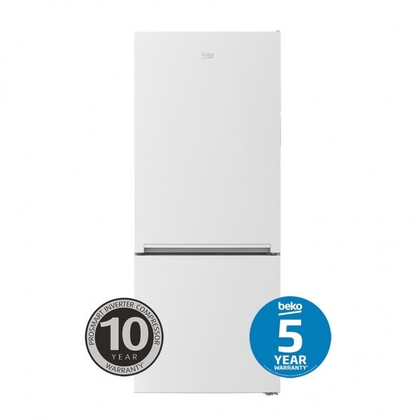 Beko Bottom Mount Fridges 445 LT Gross Volume White Bottom Mount Fridge BBM450W