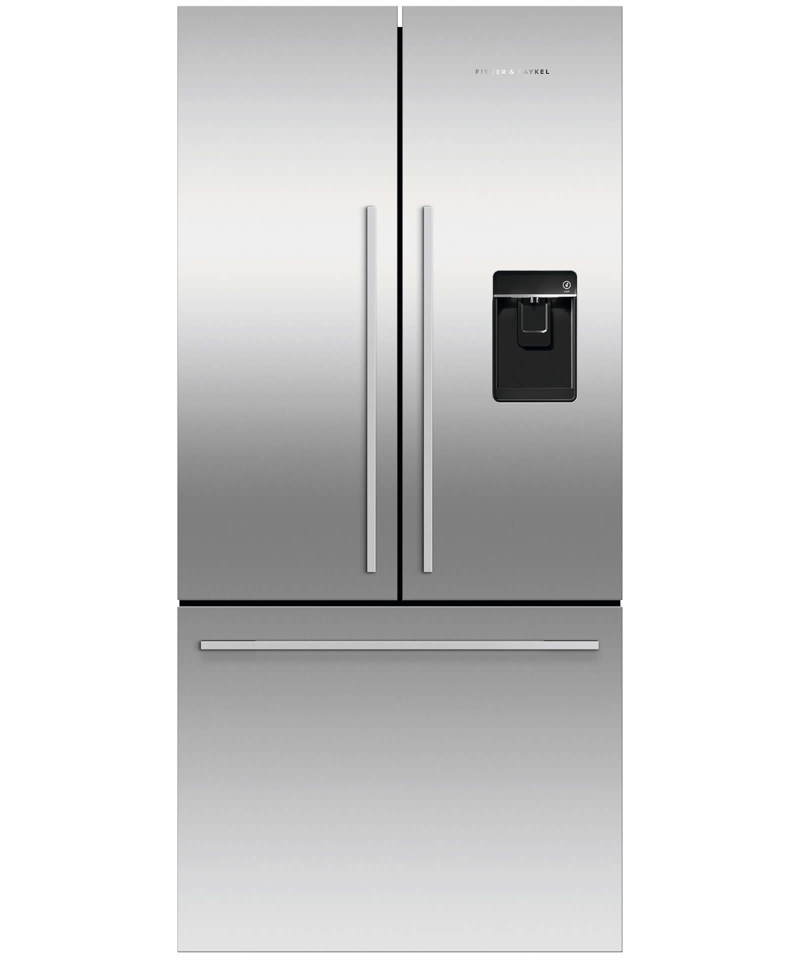 Factory second Fisher and Paykel French Door Fridges Black French Door Fridge, 900mm, 519L, Ice & Water RF522ADUB5FSA