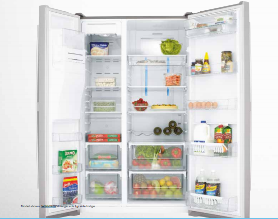 Factory Second Westinghouse 690L Side By Side Fridge Wse6970Sf