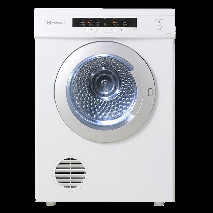 Electrolux Vented Dryers 6.5kg, rvs tumble, auto sense EDV6552