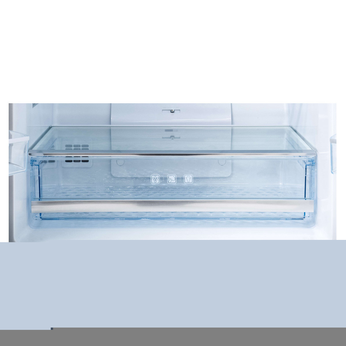 Chiq French Door Fridges 463L Four Door Fridge (White Glass) Cfd461Gw