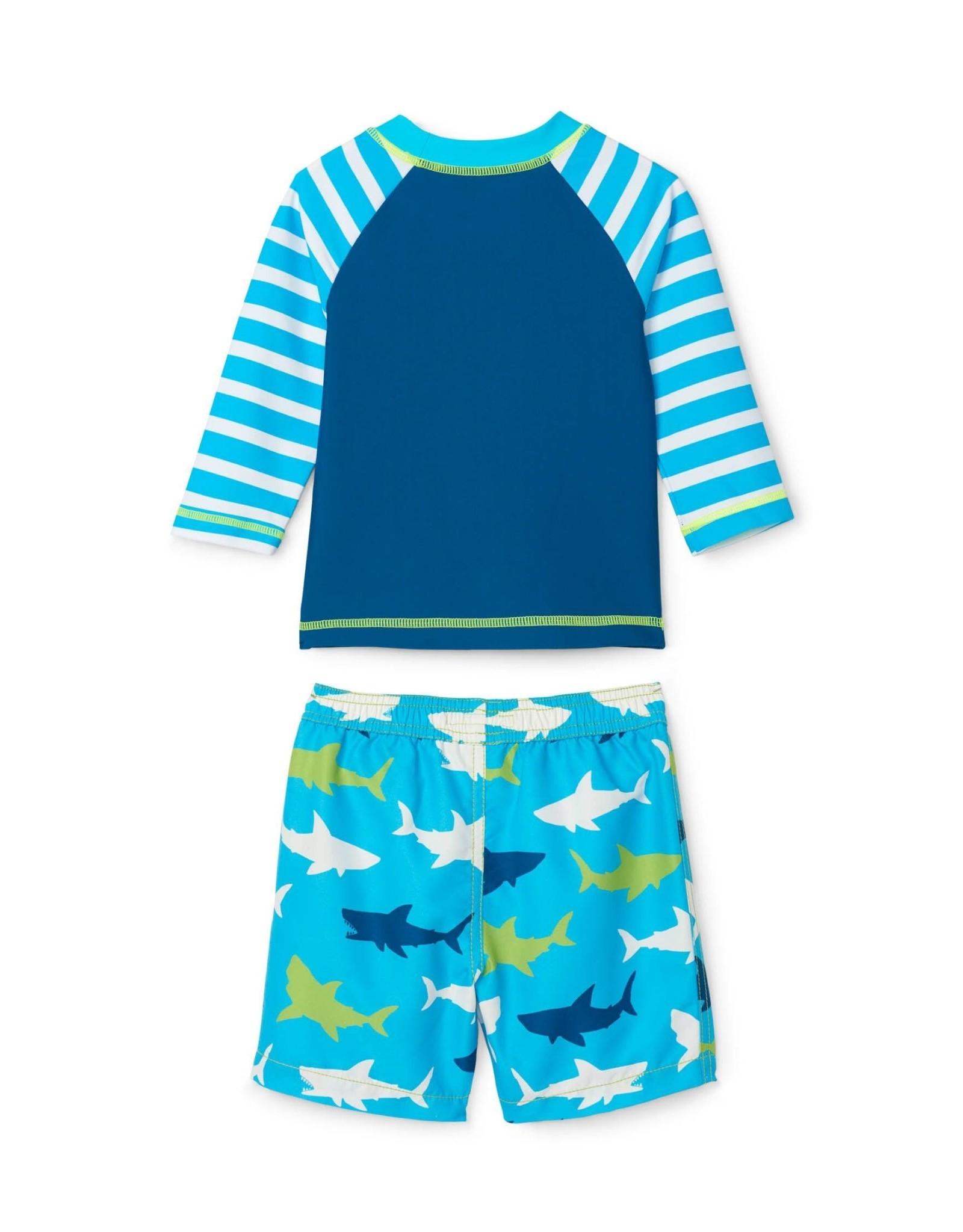 Hatley Great White Shark Baby Rashguard Set