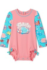 Hatley Colorful Fishies Baby Rashguard Swimsuit