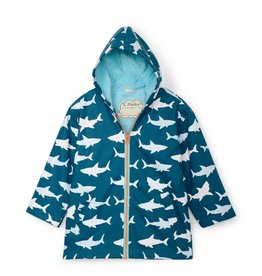 Hatley Color Changing Splash Jacket Great White Sharks
