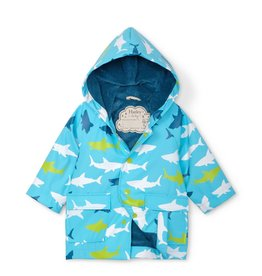 Hatley Color Changing Baby Raincoat Great White Sharks