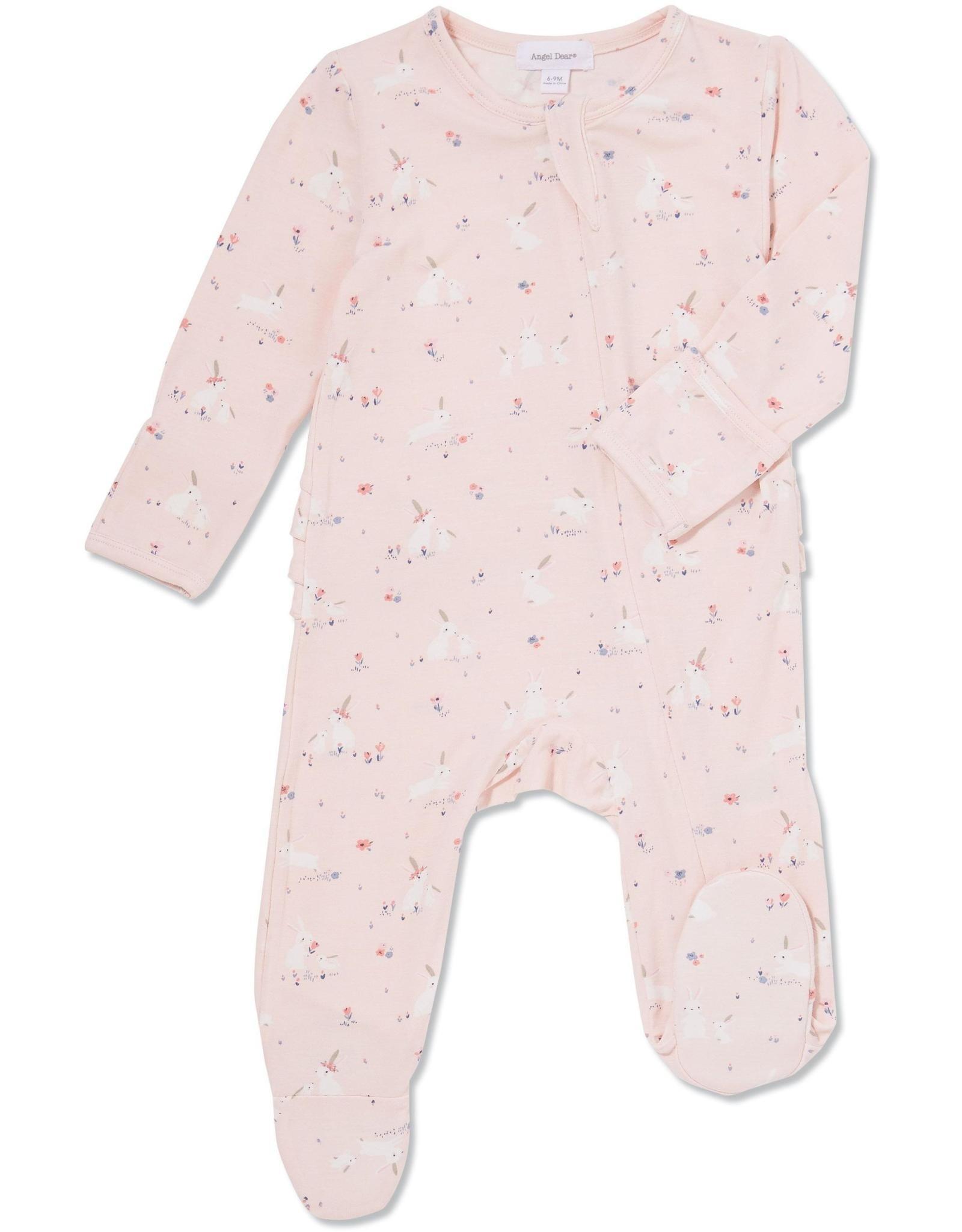 Angel Dear Angel Dear Pink Baby Bunnies Footie