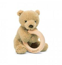 Jellycat Shooshu Bear Wooden Ring Toy