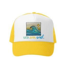 Sea Sun Surf Yellow Trucker Hat