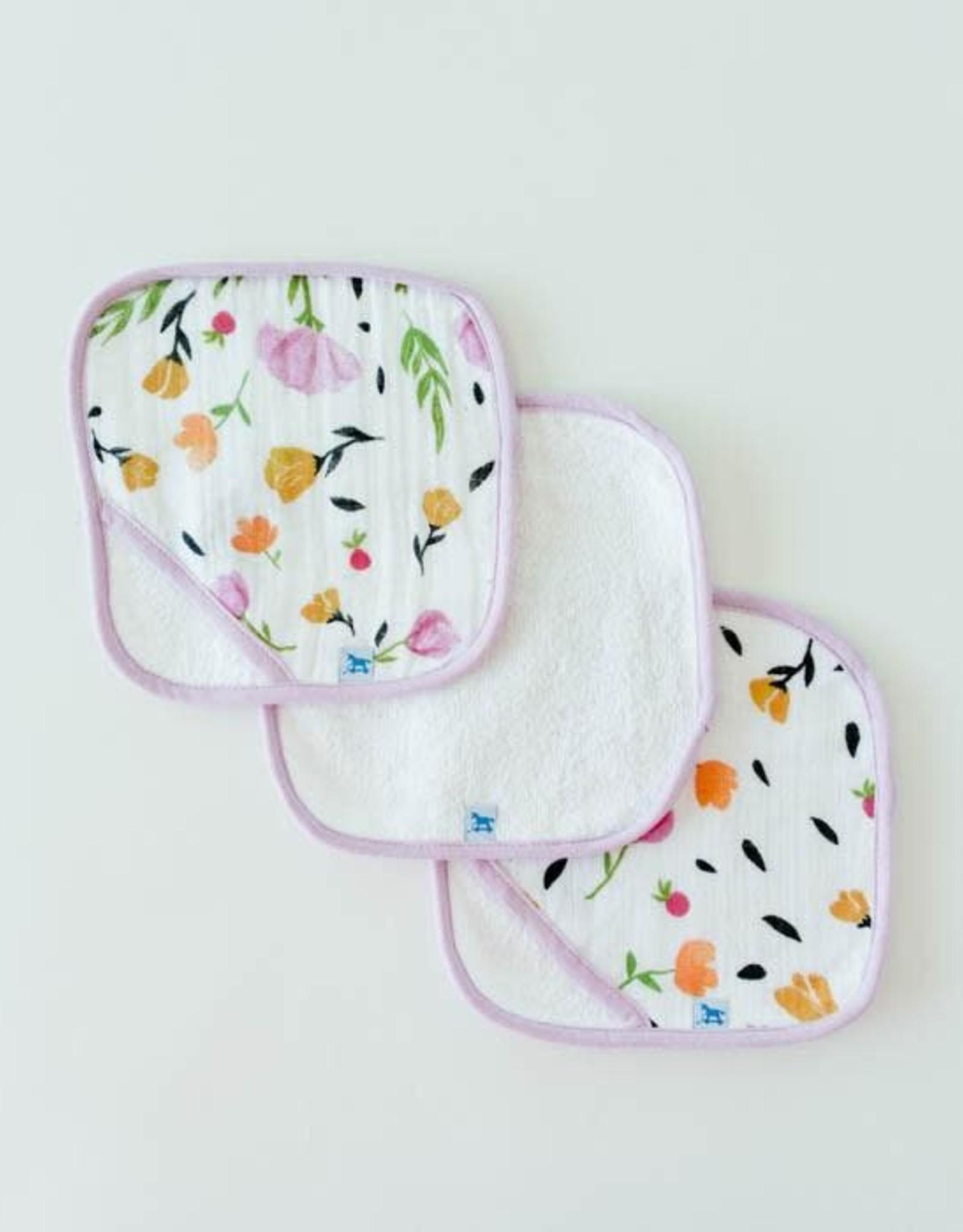 Little Unicorn Little Unicorn Washcloth Set- Berry & Bloom