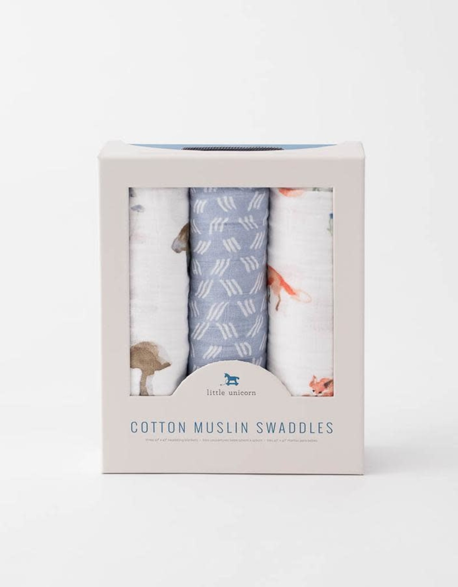 Little Unicorn Little Unicorn Muslin Swaddle 3-pack- Fox