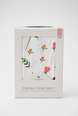 Little Unicorn Little Unicorn Percale Crib Sheet- Summer Poppy