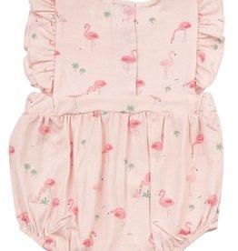 Angel Dear Flamingos Ruffle Sunsuit