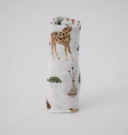 Little Unicorn Little Unicorn Deluxe Single Swaddle - Safari Social