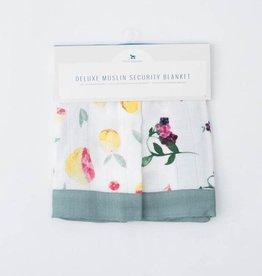 Little Unicorn Little Unicorn Deluxe Muslin Security Blankets- Grapefruit & Berry Patch