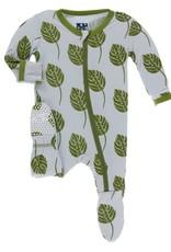 KicKee Pants Kickee Pants Print Footie Dew Philodendron