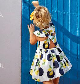 Mayoral Mayoral Lemon Dot Dress