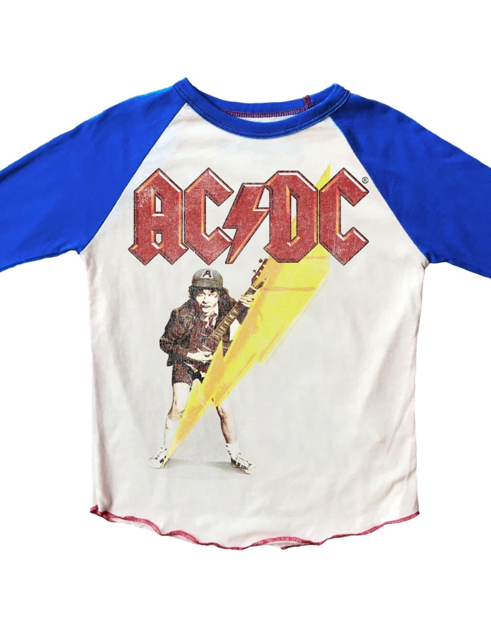 Rowdy Sprout ACDC Raglan Short Sleeve Tee
