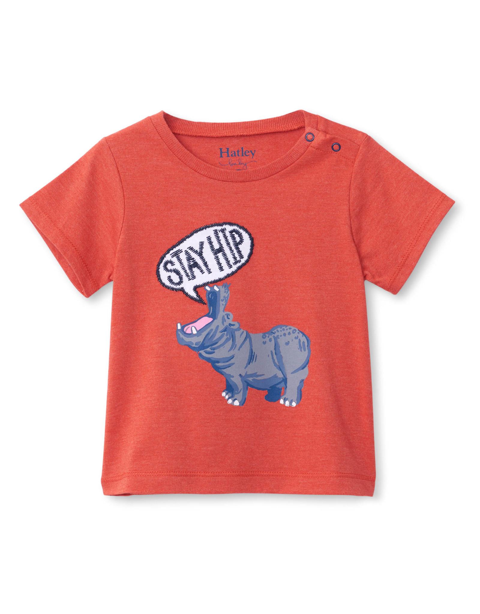 Hatley Hip Hippo Baby Graphic Tee