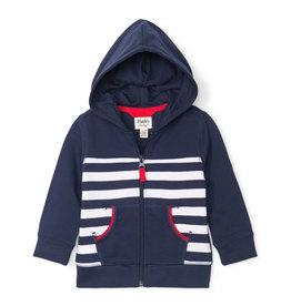 Hatley Nautical Stripe Baby Hoodie
