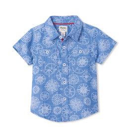 Hatley Nautical Compass Baby Button Down Shirt