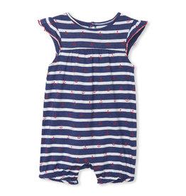 Hatley Nautical Stripe Baby Flutter Sleeve Romper