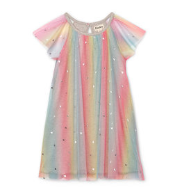Hatley Metallic Hearts Rainbow Tulle Dress
