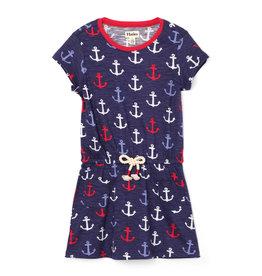 Hatley Nautical Anchors Front Pocket Drop Waist Dress