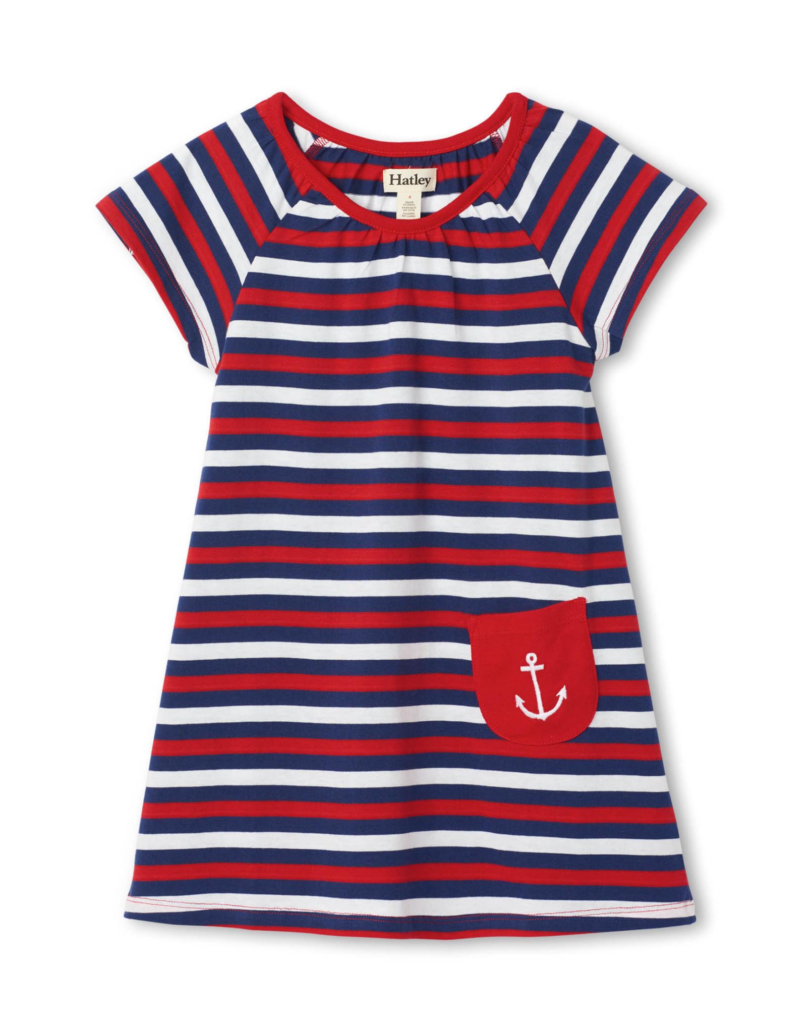 Hatley Nautical Stripes Tee Shirt Dress