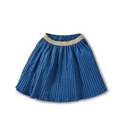 Tea Collection TEA Metallic Waist Pleated Skirt Satik Blue