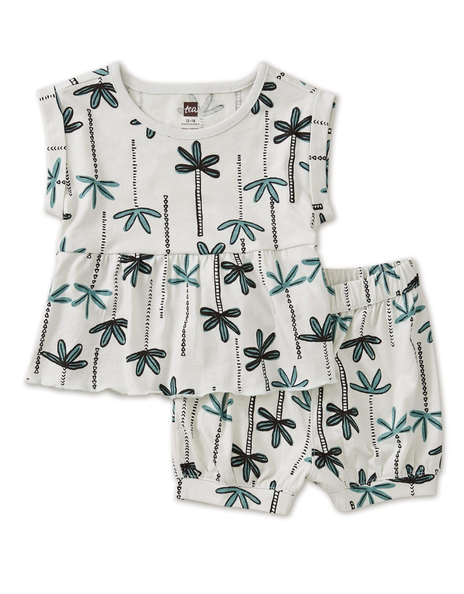 Tea Collection TEA Palm Print Baby Set, Nile Palms