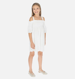 Mayoral Mayoral White Embroidered Dress