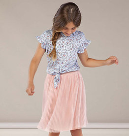 Mayoral Mayoral Pleated Tulle Skirt Pink