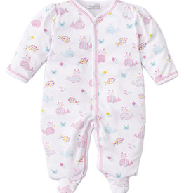 Kissy Kissy Kissy Whale of a Time Print Footie Pink