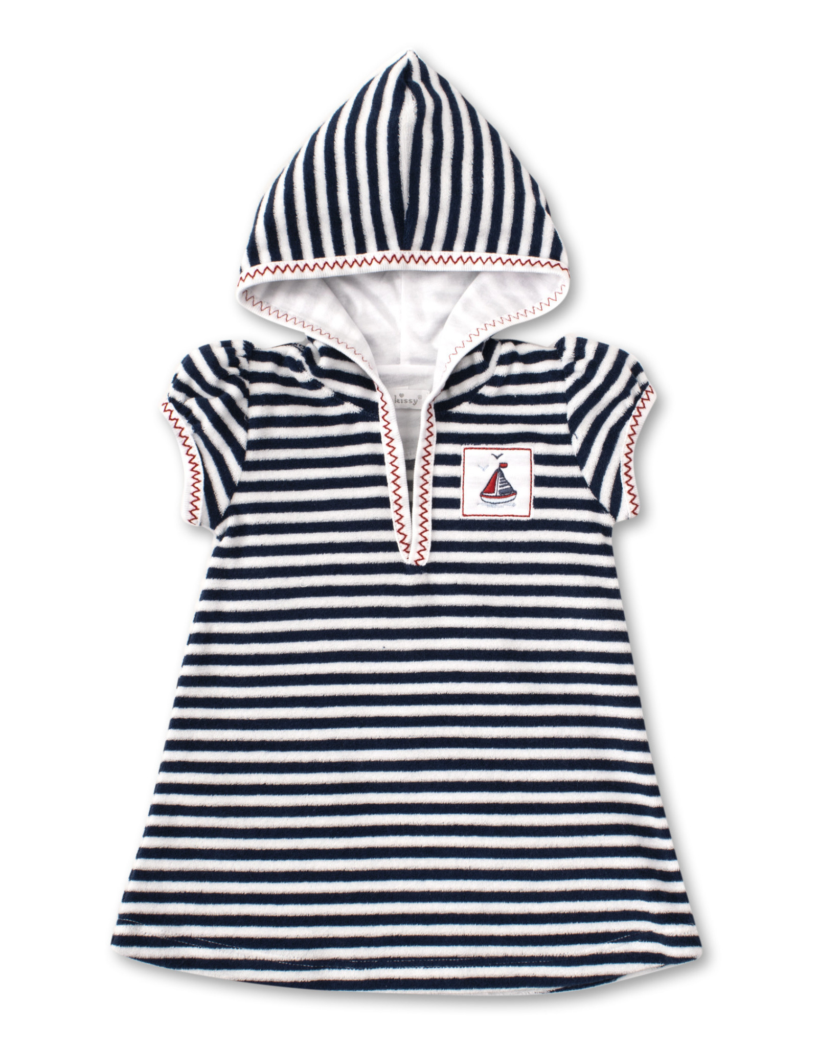 Kissy Kissy Kissy Terry Cover Up Dress Sea Stripe