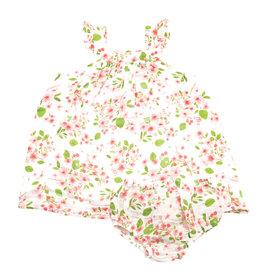 Angel Dear Angel Dear Cherry Blossom Sun Dress Bloomer Set