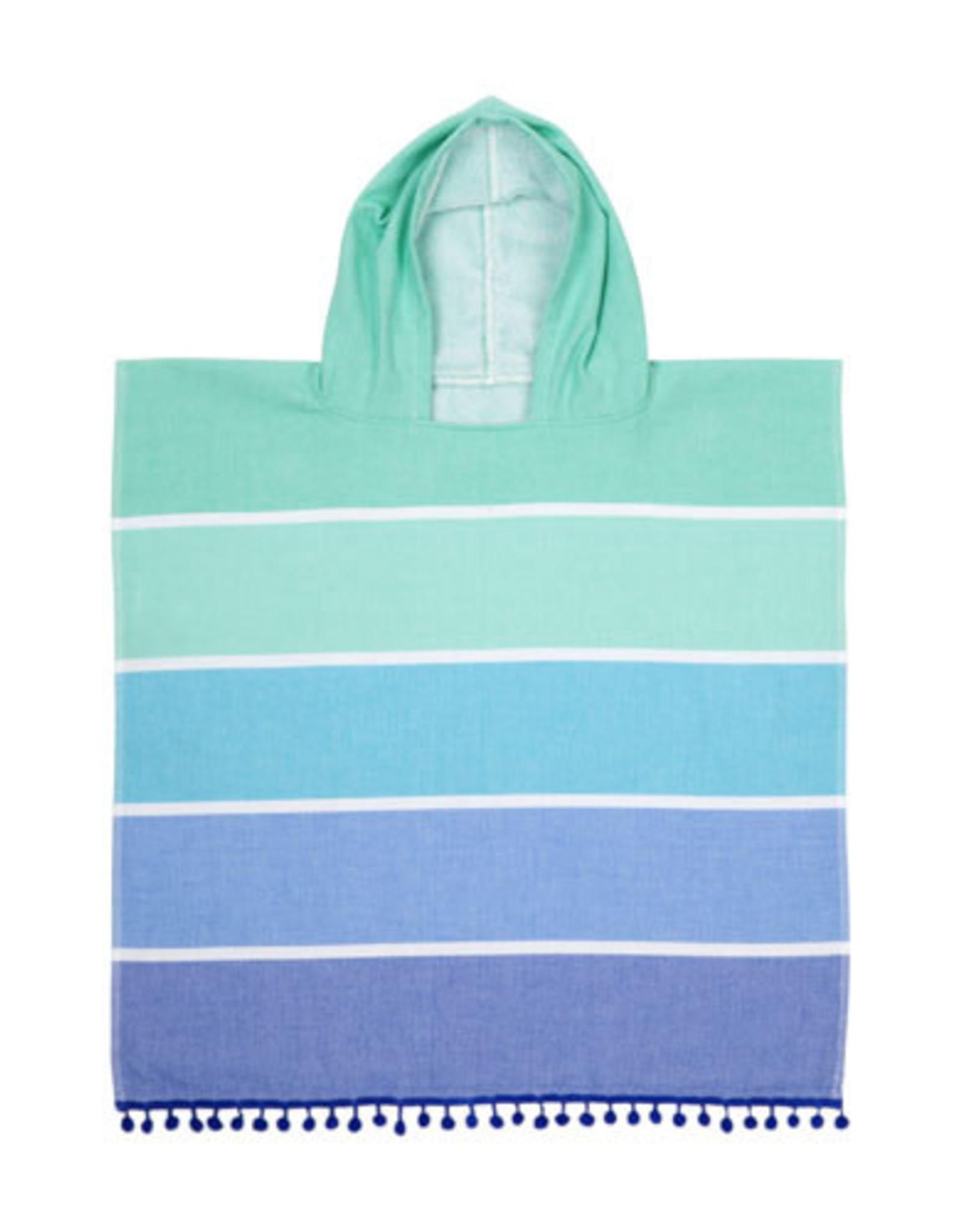 Kids Hooded Fouta Towel Blue